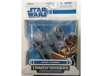 Huge Saving Star Wars Transformers Crossovers Tie Pilot To Tie Bomber
