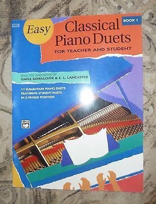 EASY CLASSICAL PIANO DUETS for Teacher & Student - ALFRED BOOK 1 Classical Piano Duets Book