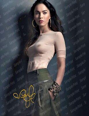 Reprint Rp 8 5X11 Signed Photo   Spectacular Megan Fox