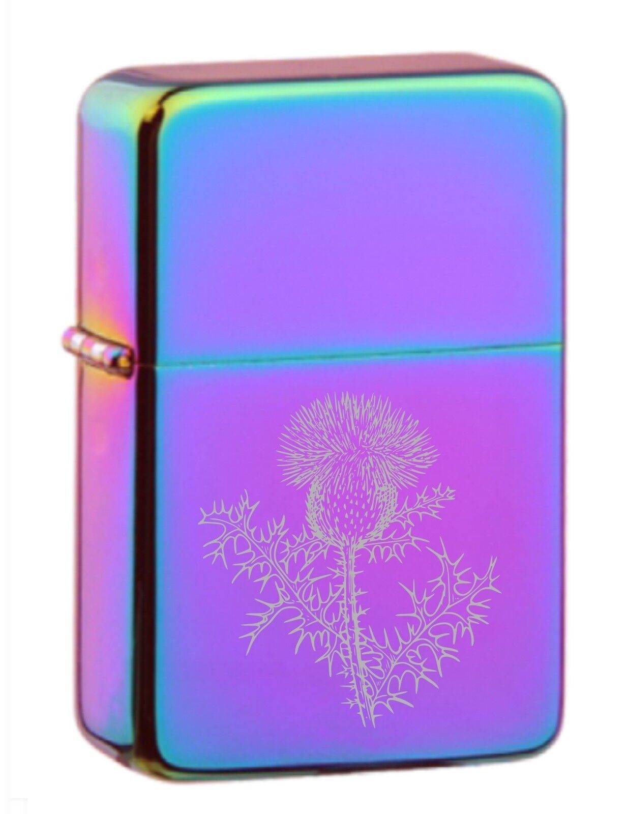 Scottish Thistle 303 Personalised Engraved Star Lighter In Gift Tin