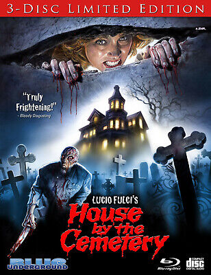 House By The Cemetery 3-Disc Limited Edition Blu-ray + OST CD Blue Underground
