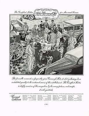 1930s BIG Vintage John Cavanagh Hat Hatters Men Fashion Auto Art Print Ad