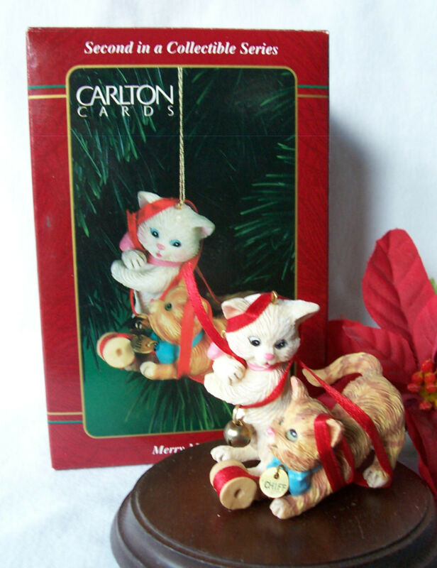 Carlton Ornament RARE! 1997 Merry Mischief Makers Cat Kitten #2 2nd Second