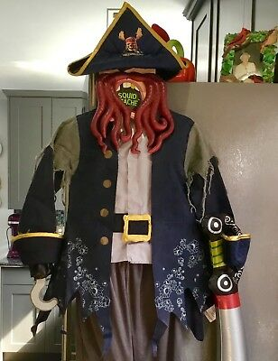 DISNEY PIRATES OF THE CARIBBEAN DAVY JONES DAVEY COSTUME CHILD BOYS XS 3 - Davy Jones Costume