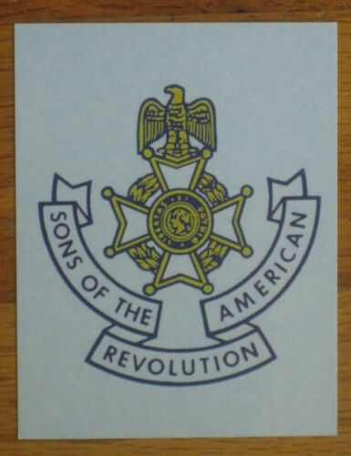 Sons of the American Revolution decal SAR sticker eagle