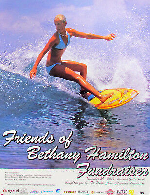 a9a46845e0bbea 2003 Mint Bethany Hamilton Fundraiser Very Rare Surfing Prior to Attack  Poster