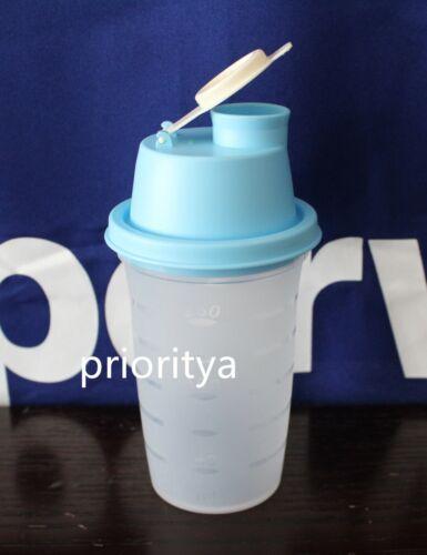 Tupperware Mini Small Quick Shake Gravy Shaker Mixer Blender 300ml 10oz Blue New