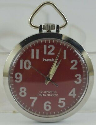 Vintage HMT 17Jewels Winding Pocket Watch For Unisex Use Working Good D-238-13