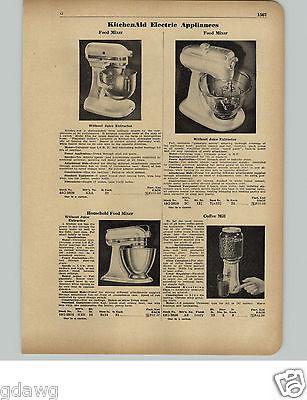 1951 PAPER AD Kitchen Aid KitchenAid Electric Food Mixer 3 Models