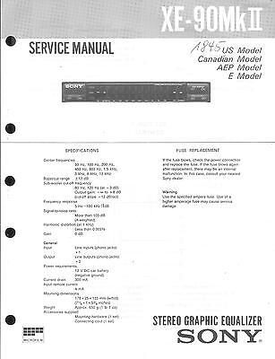 Sony Original Service Manual  für XE-90 MKII