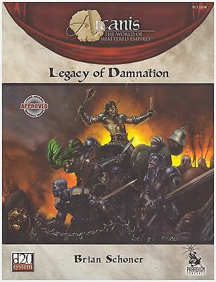 Arcanis: Legacy of Damnation - D&D d20 Rpg Dungeon & Dragons Fantasy Sourcebook
