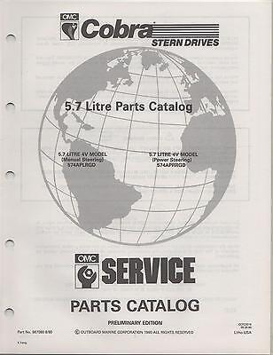 1991 Omc Cobra Stern Drive 5.7 Litre Parts Manual