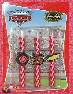 Cars 2, Icon Candles, 6ct. Birthday Party Decorations,pixar,decopac,red,11743