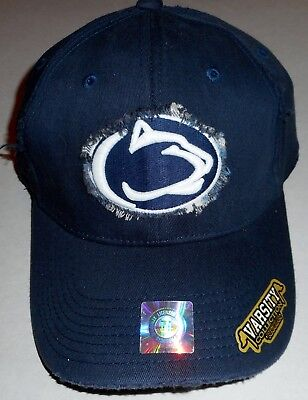 PENN STATE NITTANY LIONS TOP OF THE WORLD DISTRESSED MEN'S FITTED HAT CAP S/M