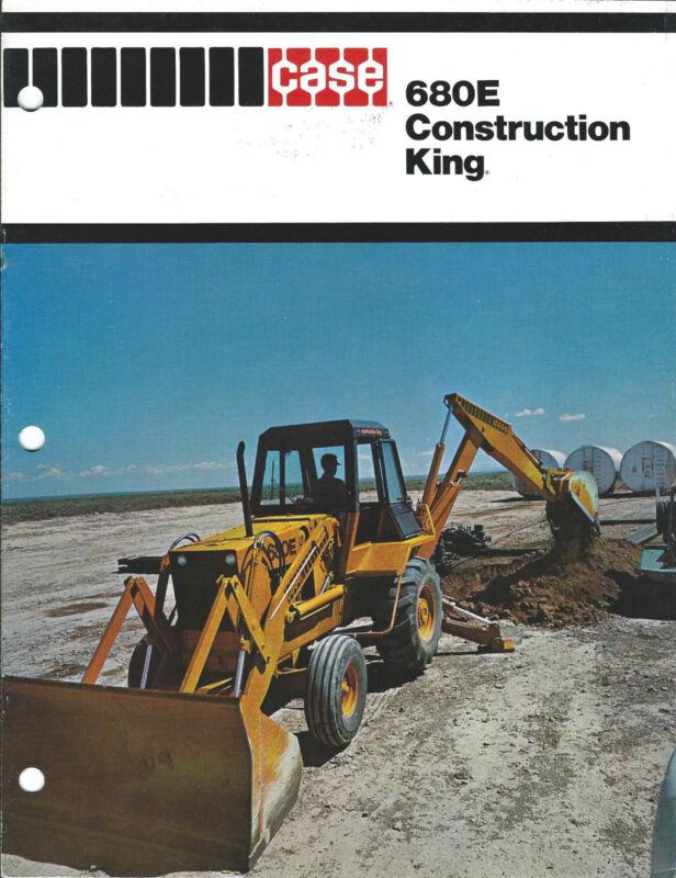 Equipment Brochure - Case - 680E Construction King - Loader Backhoe (E2975)