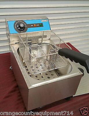 New 1 Basket Counter Top Fryer Electric Uniworld Uef-101 2787 Single Restaurant