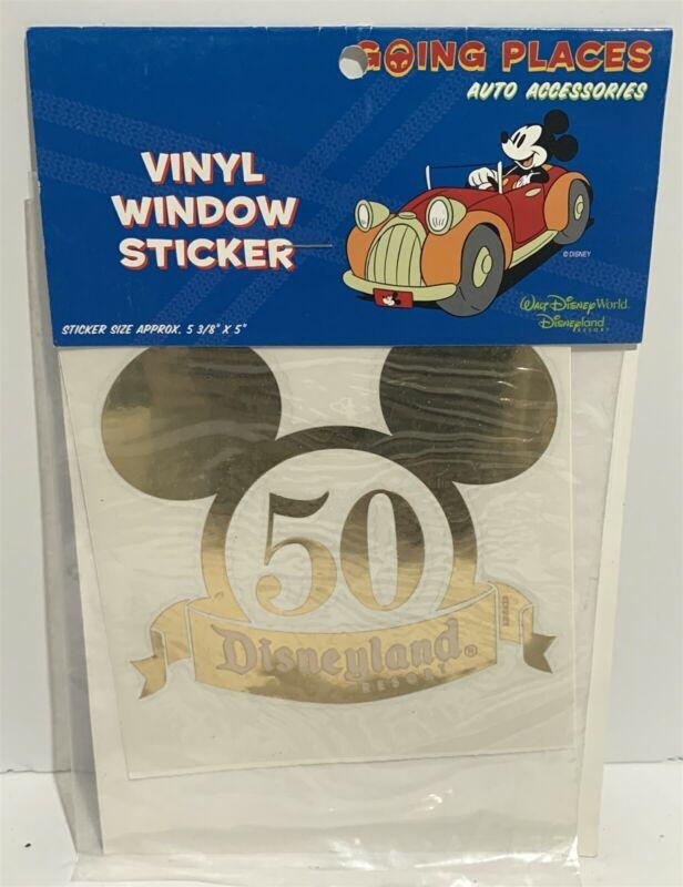 Disneyland 50 Vinyl Window Sticker Car Vehicle Collectible Disney Vintage