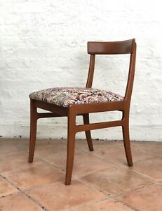 Rare Vintage Mid Century PARKER Teak Dining Chairs (x6)