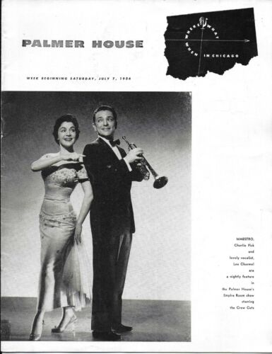 Vintage Palmer House Chicago Where What When Advertising Guide Book July 7, 1956