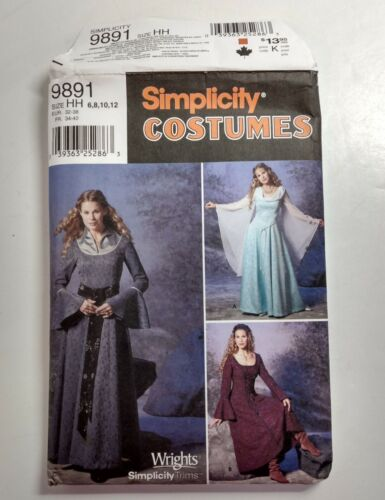Simplicity Renaissance Dress Pattern #9891