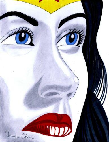 WONDER WOMAN FINE ART POP ART ORIGINAL COMIC ART 7 BY COMIC ARTIST JAMES CHEN
