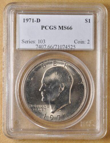 1971 D Eisenhower Dollar PCGS MS66