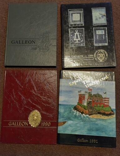 4 X 1988 ~ 1991 The Galleon- Christian Brothers College Yearbook - Memphis, TN