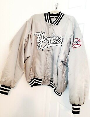 VTG 90's Majestic Authentic Collection NY Yankees Satin Bomber Jacket Men's XL