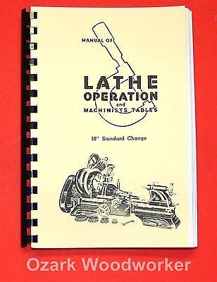 "Atlas Craftsman Manual of Lathe Operation Book for 10"" Standard 0033"
