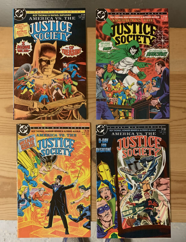 America Vs. The Justice Society 1-4  DC  Roy Thomas