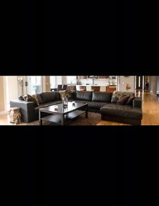 Corner lounge / sofa / chaise / couch leather