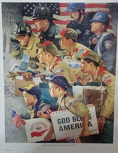 Prepared to Do A Good Turn Joe Csatari Boy Scout 9/11 Print BSA 24 x 18 Poster