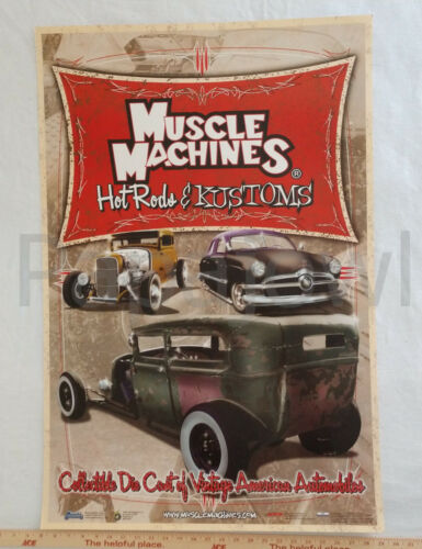 """Limited Muscle Machines Hot Rods And Kustoms Poster Print Wall Art 24"""" x 36"""""""