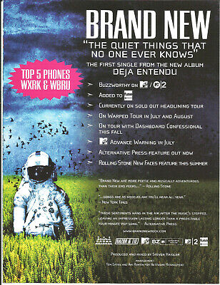BRAND NEW Rare 2003 Quiet Things PROMO TRADE AD Poster for Deja CD MINT USA