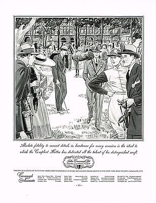 1930s BIG Vintage John Cavanagh Hatter Hat Shop Men's Fashion Art Print Ad