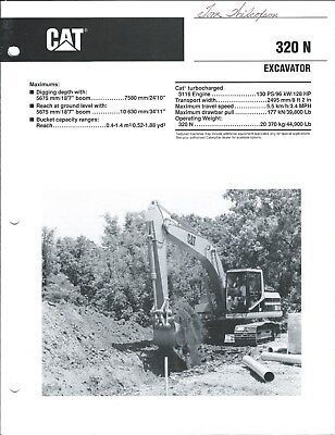 Equipment Brochure - Caterpillar - 320n - Excavator - 1993 E4225