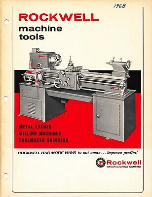 1968 Rockwell Machine Tools Metal Lathes Milling Machines Toolmaker Catalog Cd