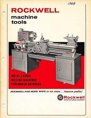 1968 Rockwell Machine Tools Metal Lathes Milling Machines Toolmaker Catalog Cd