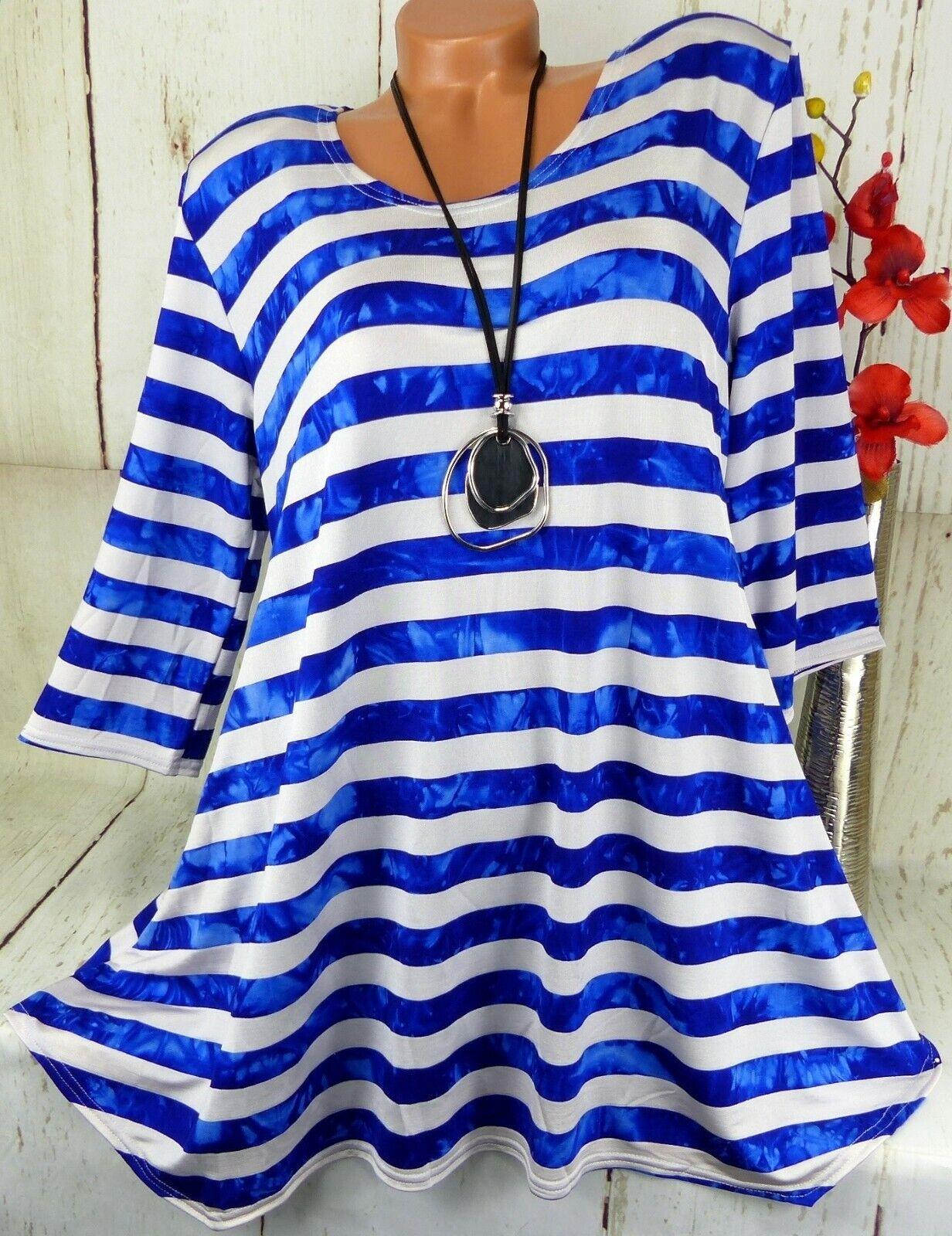 New Jersey Tunika Bluse Kleid Shirt Top Longshirt Lagenlook A-Linie XL 44 46