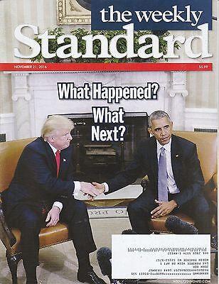 NOV 21 2016 THE WEEKLY STANDARD magazine DONALD TRUMP - OBAMA