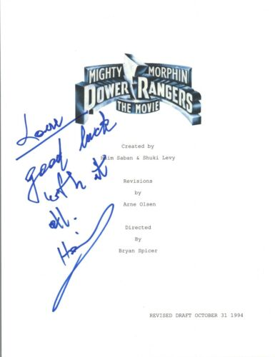 Haim Saban Signed Autographed MIGHTY MORPHIN POWER RANGERS Movie Script COA