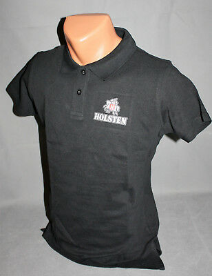 Holsten Bier Beer Brauerei Herren Men Man Polo Shirt Hemd schwarz Gr. L