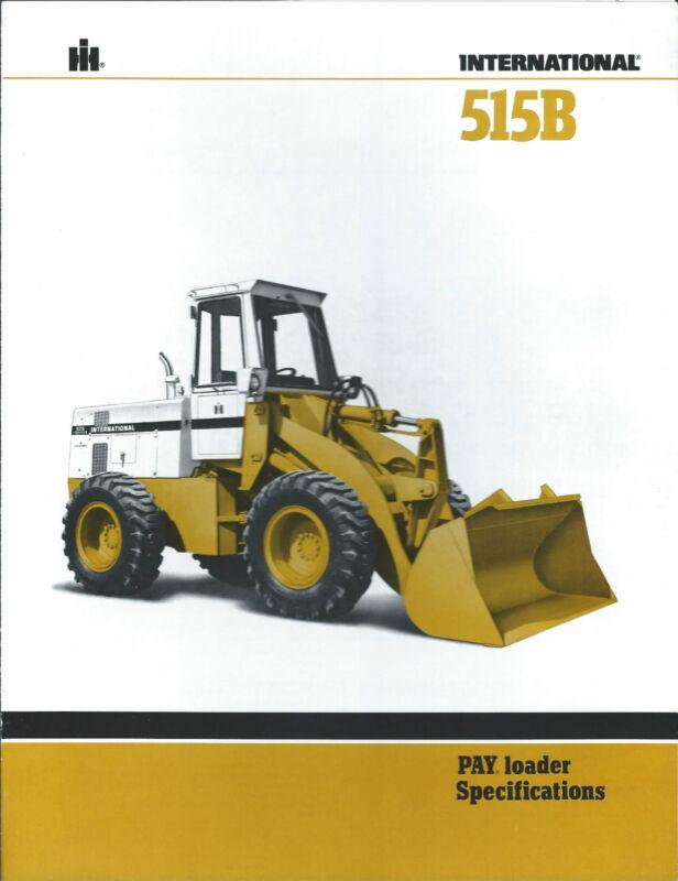 Equipment Brochure - International IH - 515B - Pay Loader Wheel - c1981 (E3070)