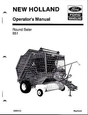 New Holland 851 Round Baler Operator Manual 42085113