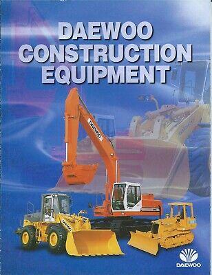 Equipment Brochure - Daewoo - Construction Product Line Overview - C1996 E6314