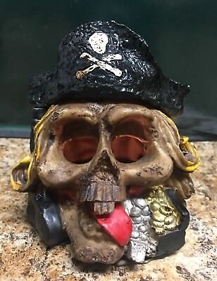 Pirate Skull with removable hat Votive/tea light Candle Holder