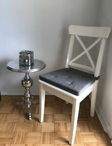 Moving Sale IKEA Ingolf Solid Wood chair include seat cover