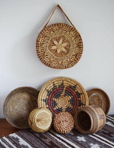Vintage Native American Coushatta Pine Needle Basket Purse With Strap Rare