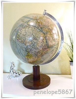 großer COLUMBUS Heimglobus Globus Erdglobus Globe Drei-Kegel-Verlag ca. 1920