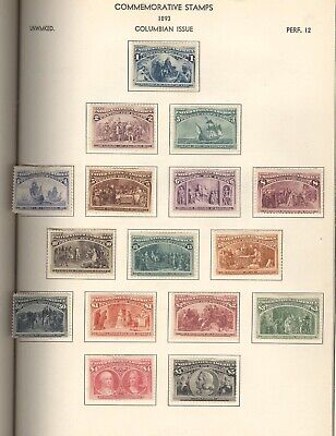 US, Complete UNUSED Columbians, Fantastic Stamp Collection hinged in a Nicklin